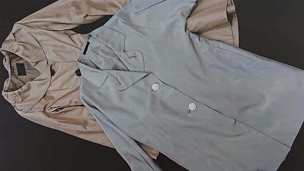 シルクを使ったコートです。