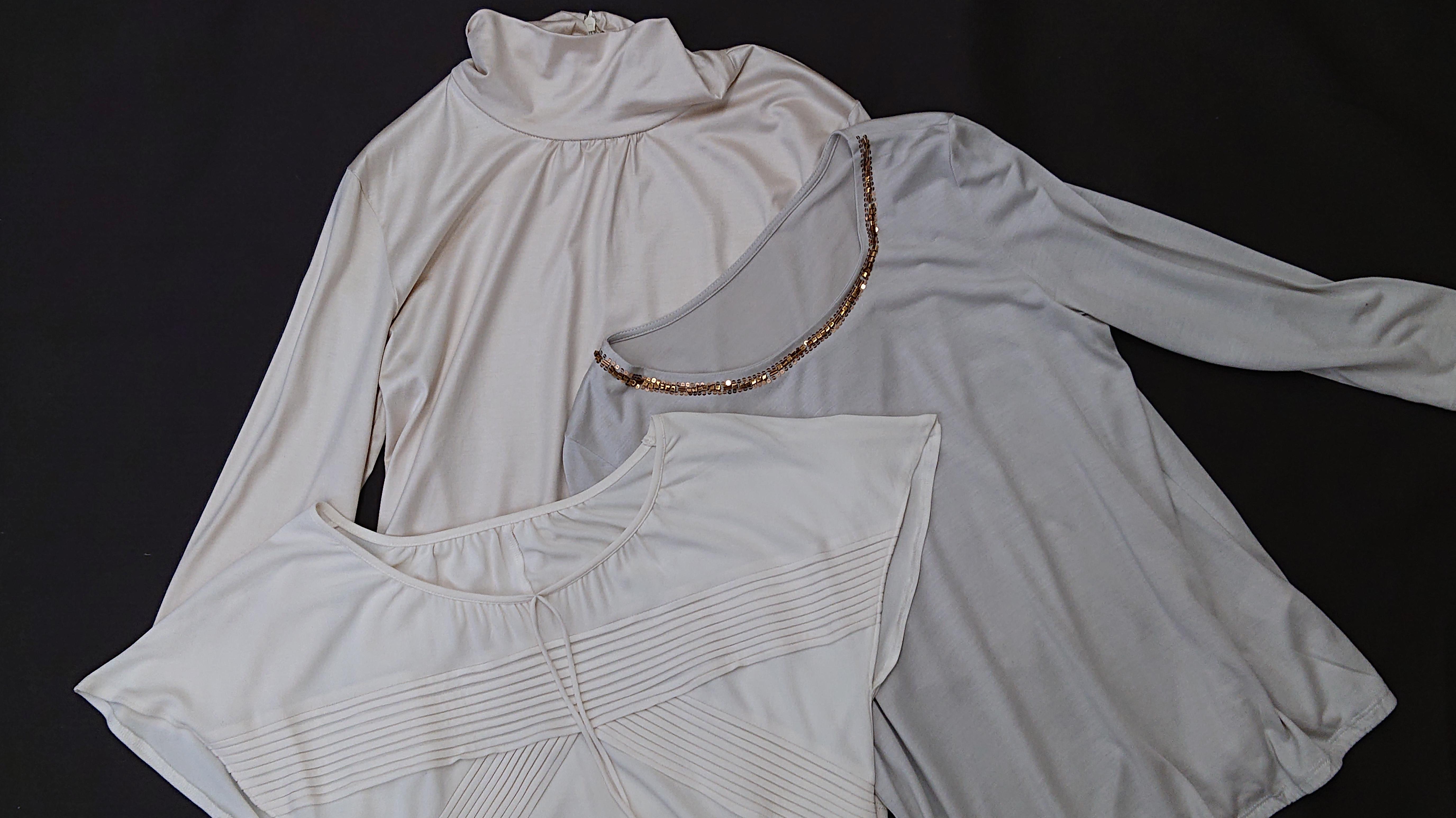 シルクを使ったカットソーシャツです。